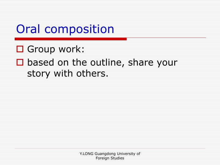 Oral composition