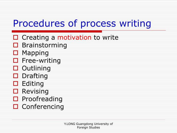 Procedures of process writing