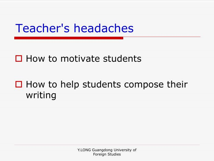 Teacher's headaches