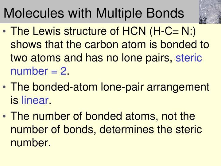Molecules with Multiple Bonds