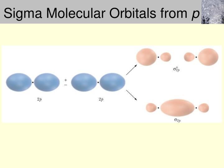 Sigma Molecular Orbitals from