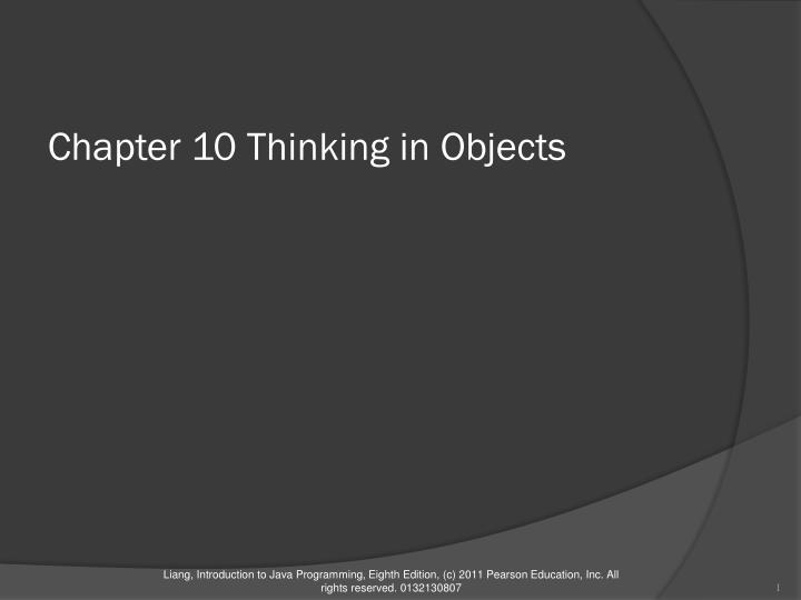 chapter 10 thinking in objects n.