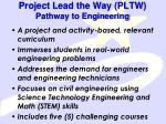project lead the way pltw pathway to engineering