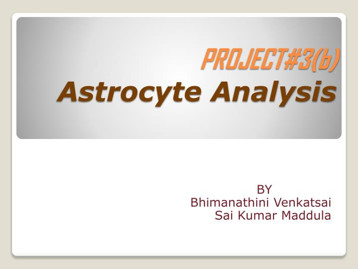 Project 3 b astrocyte analysis
