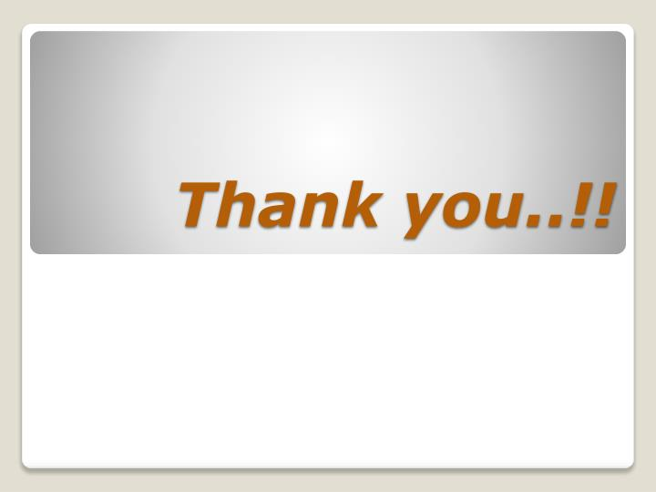 Thank you..!!