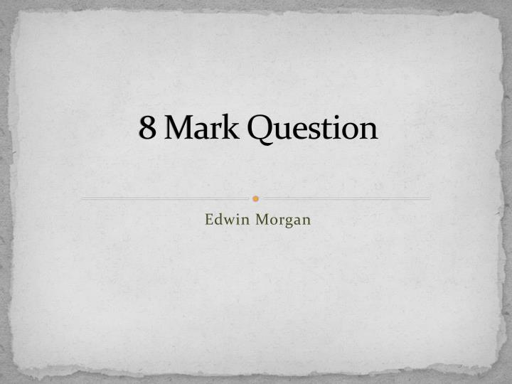 trio edwin morgan critical essay Open document below is a free excerpt of critical essay on glasgow sonnet (i) by edwin morgan from anti essays, your source for free research papers, essays, and term paper examples.