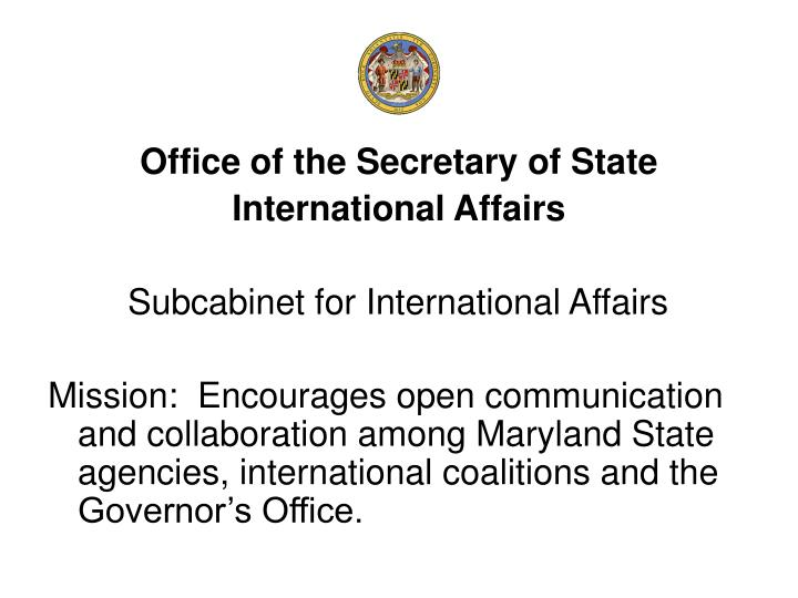 Office of the Secretary of State