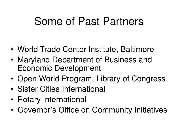 Some of Past Partners