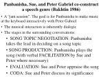 panbanisha sue and peter gabriel co construct a speech genre bakhtin 1986