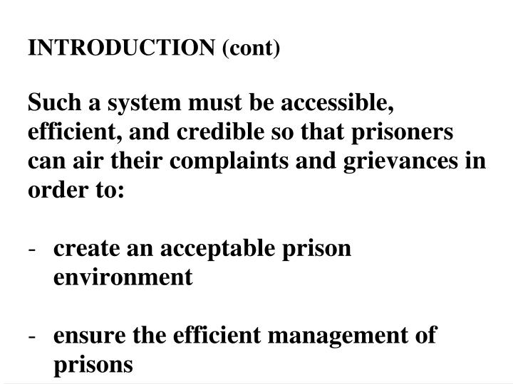 Complaint letters from prisoners
