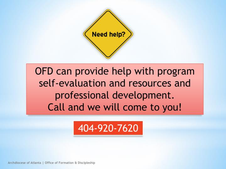 OFD can provide help with program