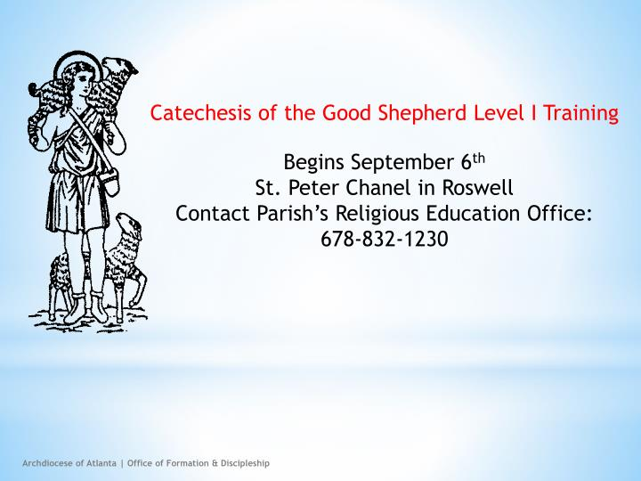 Catechesis of the Good Shepherd Level I Training