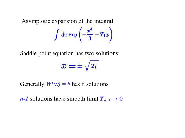 Asymptotic expansion of the integral