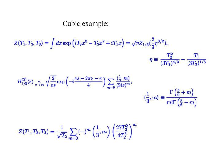 Cubic example: