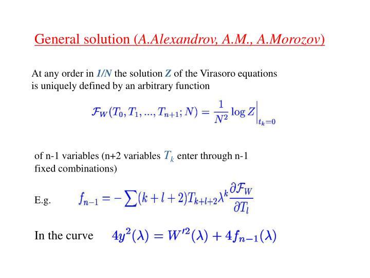 General solution (
