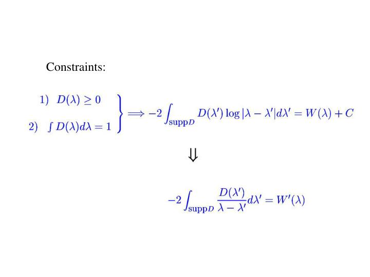 Constraints: