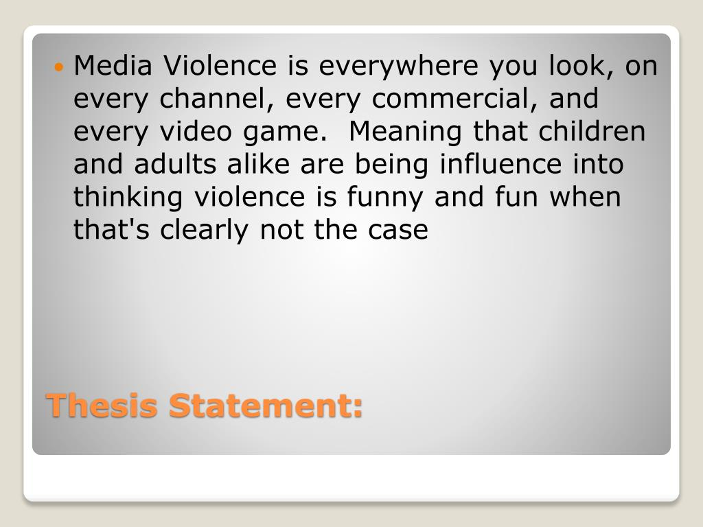 Thesis statement on media influence dissertation abstract editor website au