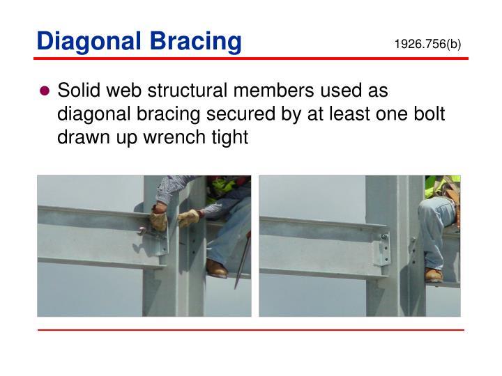 Diagonal Bracing