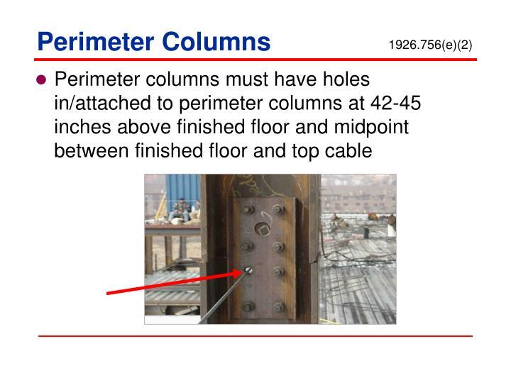 Perimeter Columns