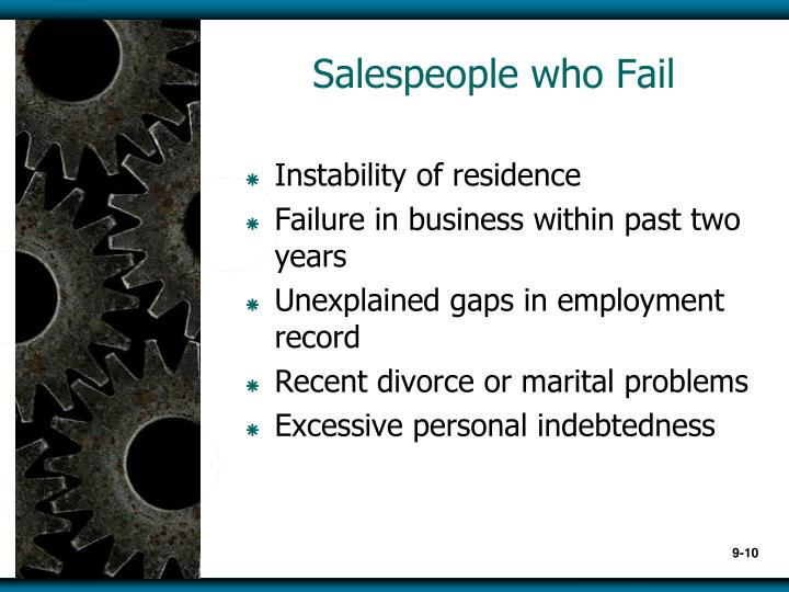 Salespeople who Fail