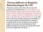 thomas jefferson to benjamin banneker august 30 1791