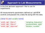 approach to lab measurements4
