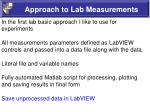 approach to lab measurements6