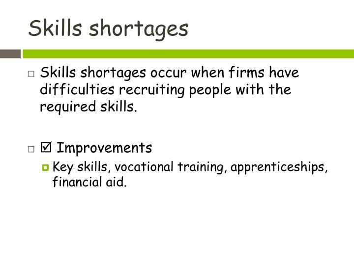Skills shortages