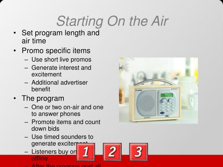 Starting On the Air