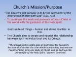church s mission purpose