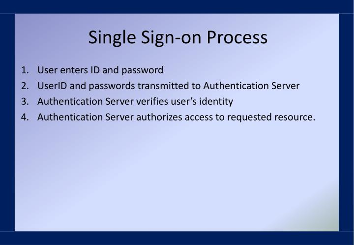 Single Sign-on Process