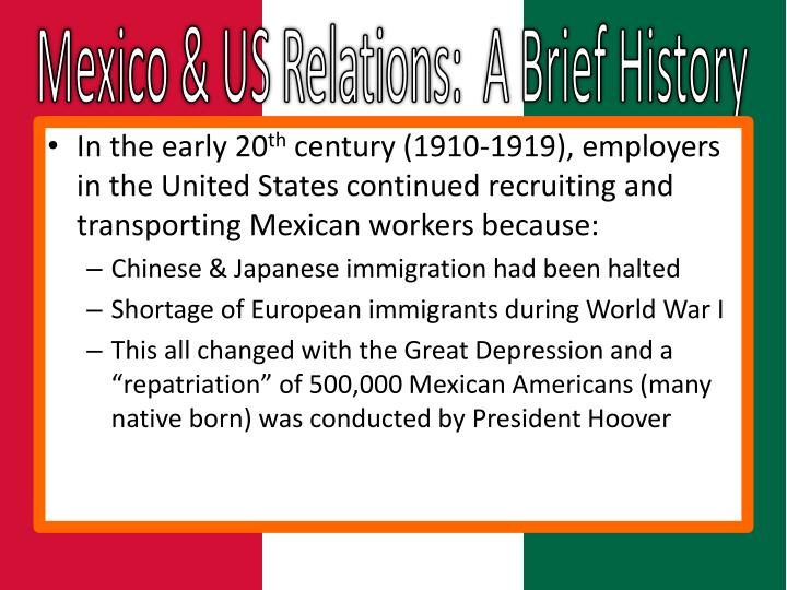 Mexico & US Relations:  A Brief History