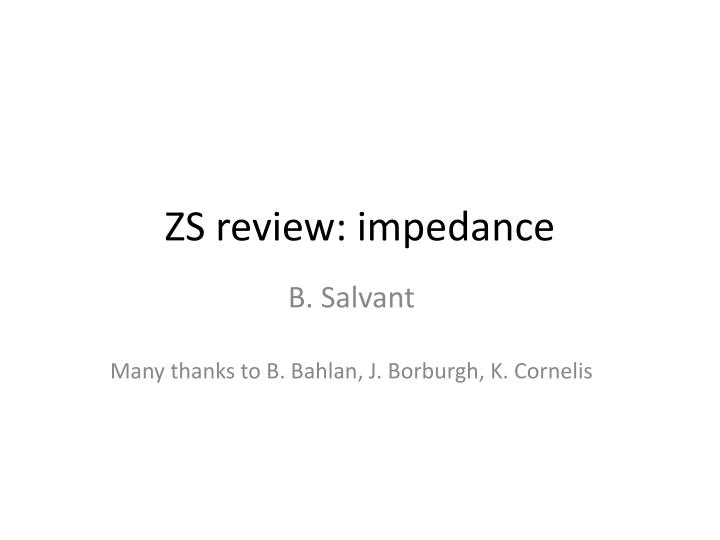 Zs review impedance