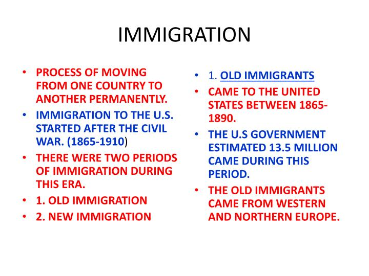 immigration n.