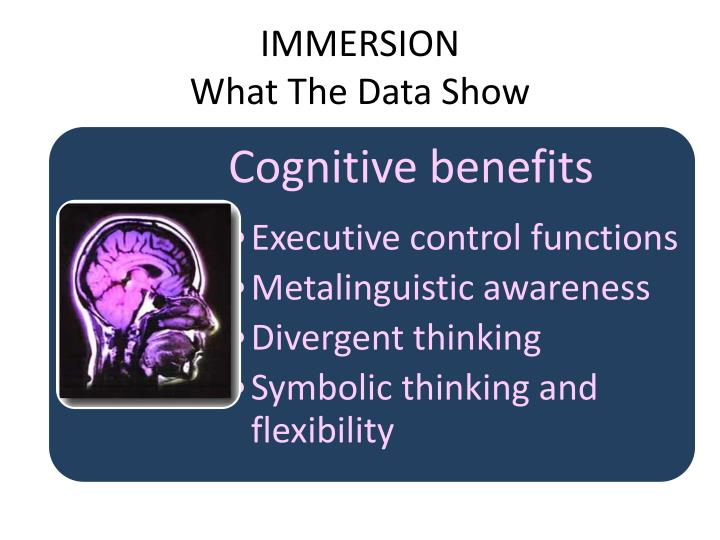 Immersion what the data show