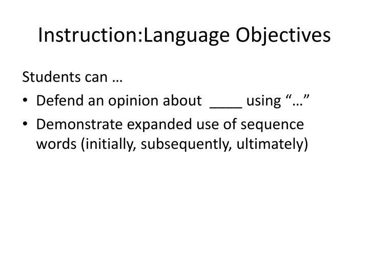 Instruction:Language