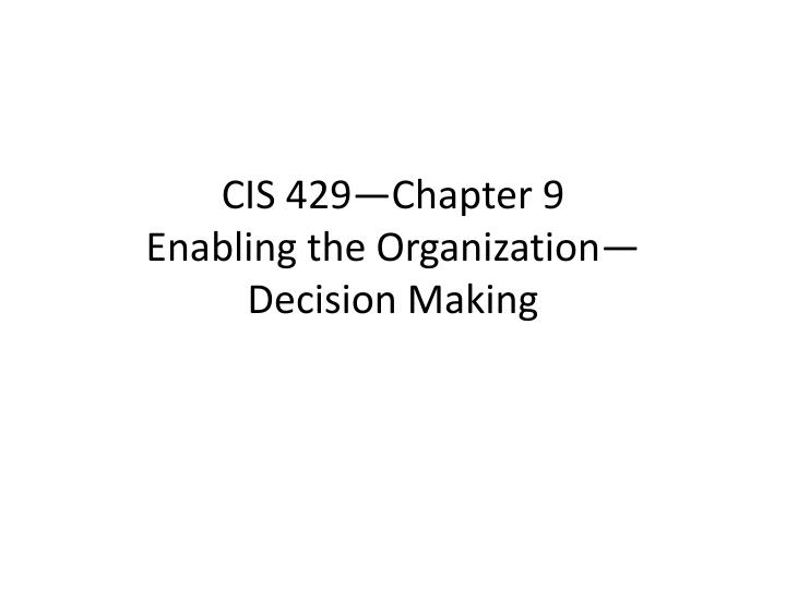 cis 3306 chapter 9 review Chapter 13 corruption is a complex subject that as i have shown covers conduct right across the board it is widely viewed primarily as a political phenomenon and is presented as an external problem.
