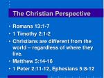 the christian perspective