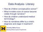 data analysis literary