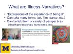 what are illness narratives