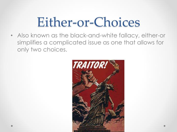 Either-or-Choices