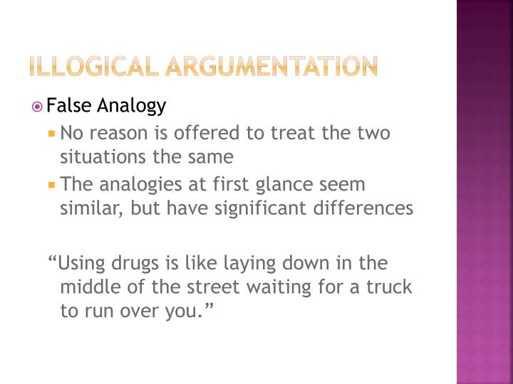 Illogical Argumentation