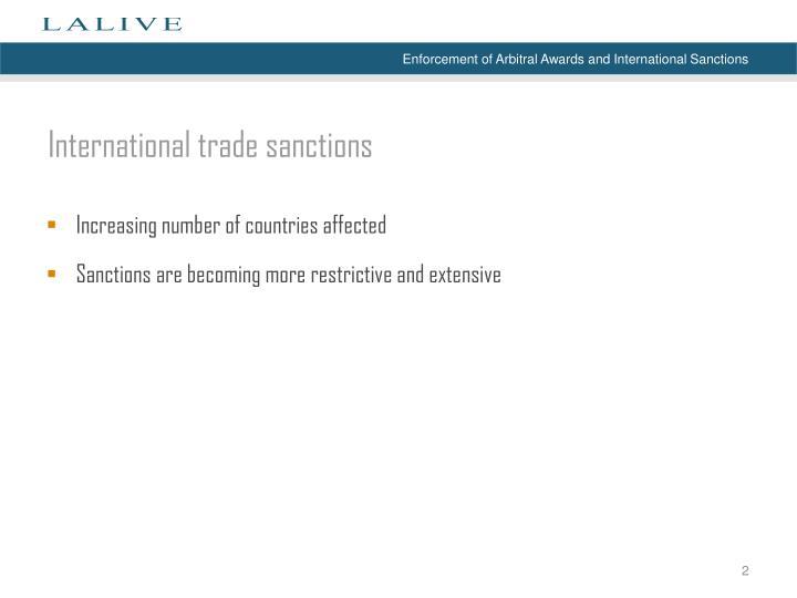 International t rade s anctions
