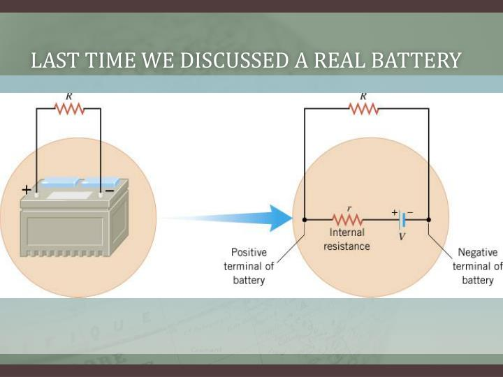 last time we discussed a real battery