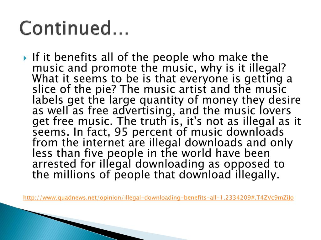 PPT - Illegal Downloading of Music PowerPoint Presentation
