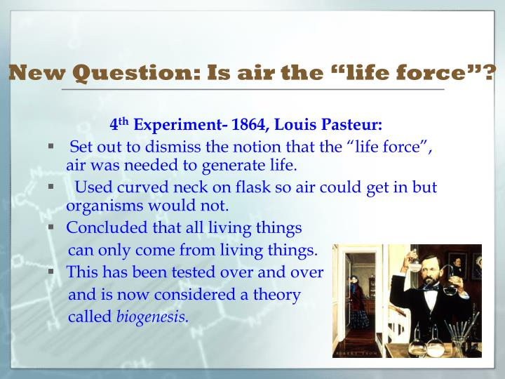"""New Question: Is air the """"life force""""?"""