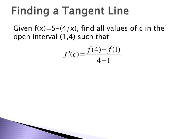 Finding a Tangent Line