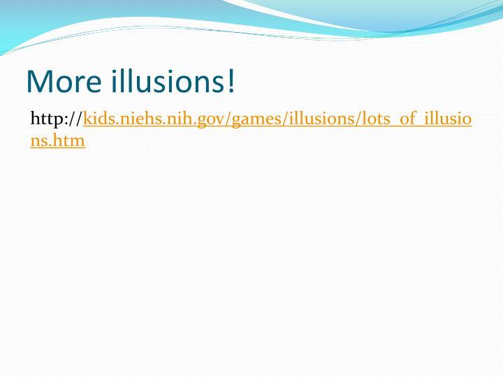 More illusions!