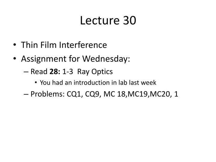 lecture 30