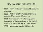 key events in his later life